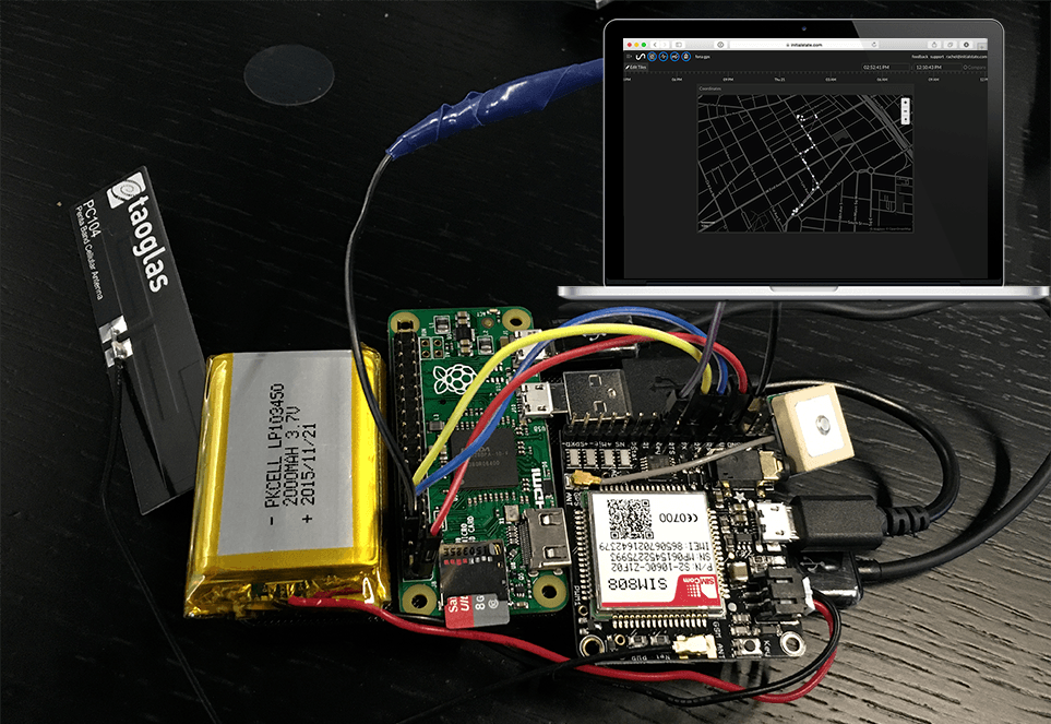 "Building a ""handmade GPS tracker"" using PI ZERO and FONA"