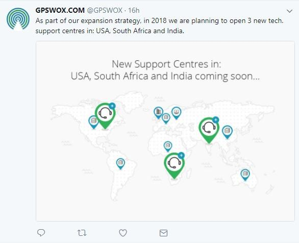 GPSWOX to open 3 new tech support centres