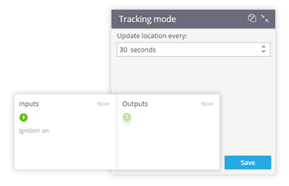 Tracking mode selection for Concox in Navixy