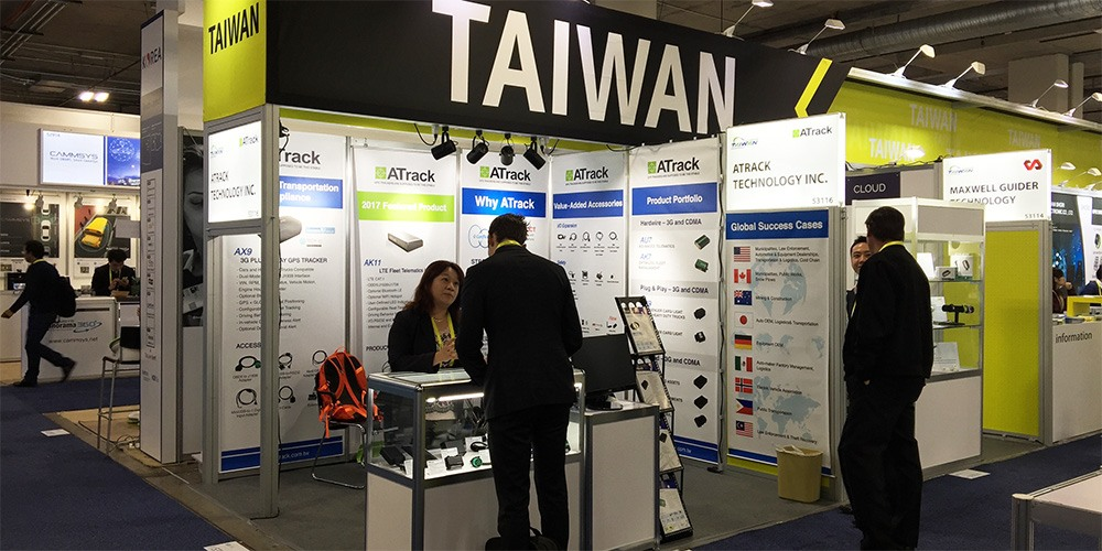 ATrack's booth on CES2017
