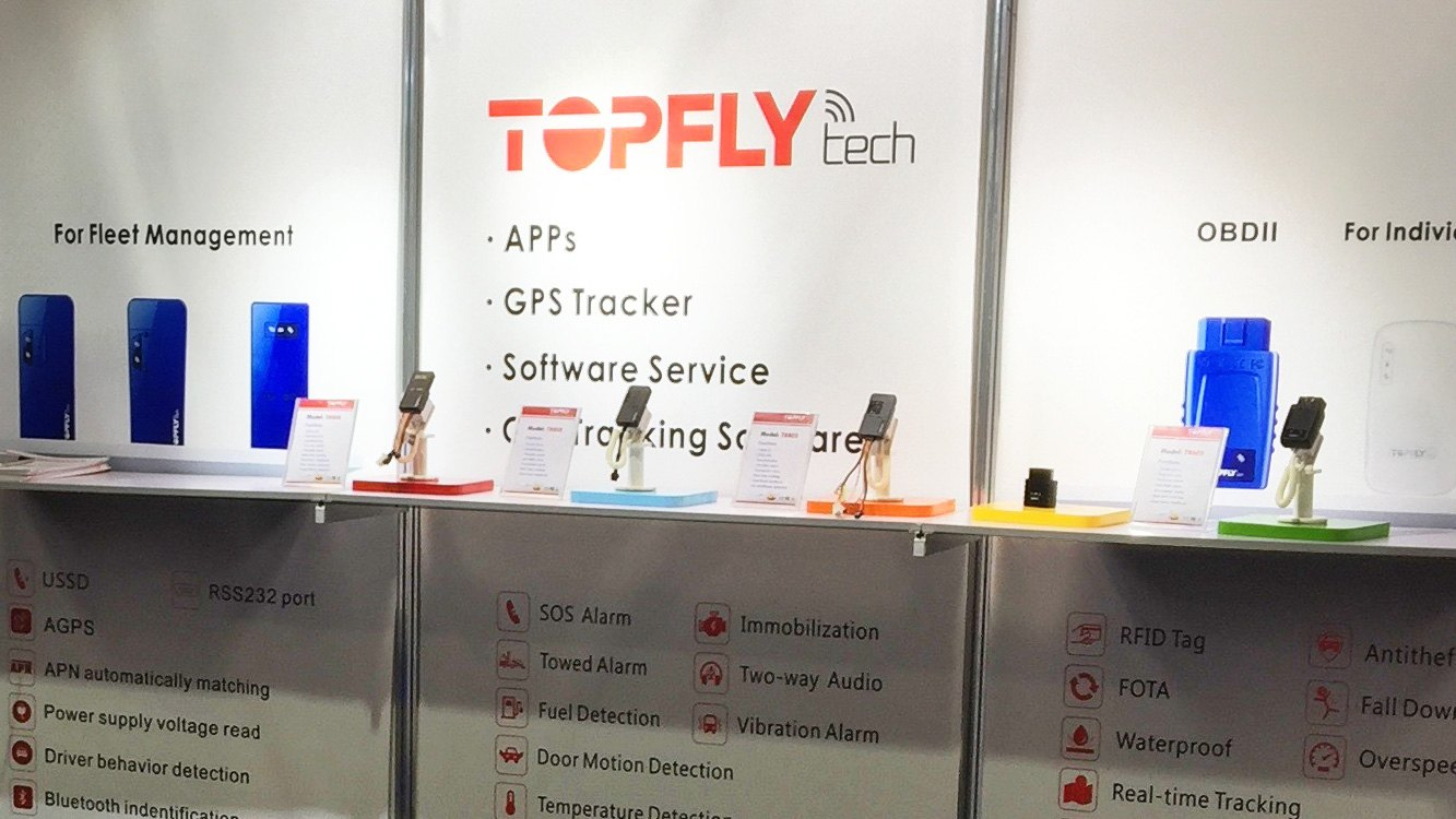 TOPFLYtech booth on CES2017
