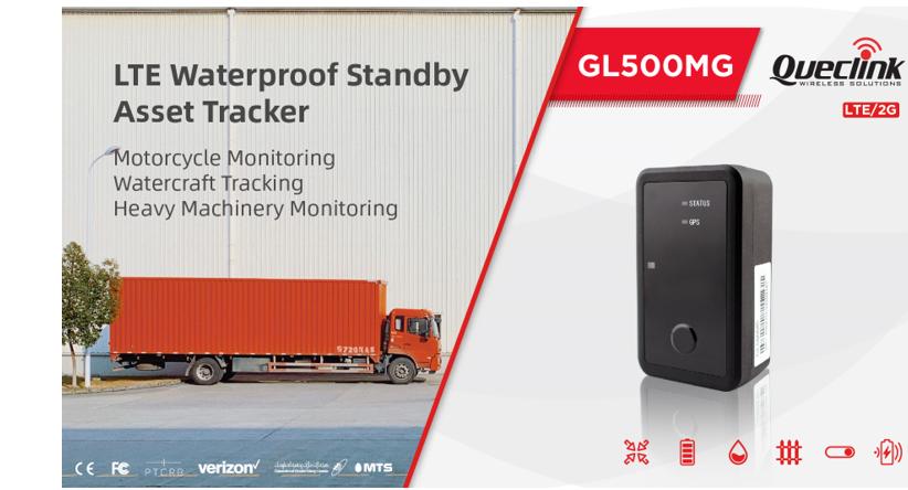 Queclink GL500MG: LTE waterproof standby asset tracker